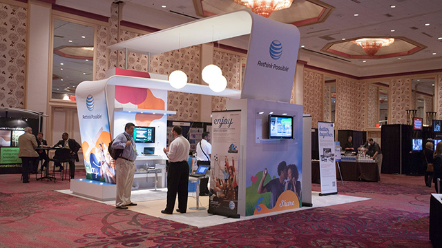 experiential live-event booth at trade show and exhibition
