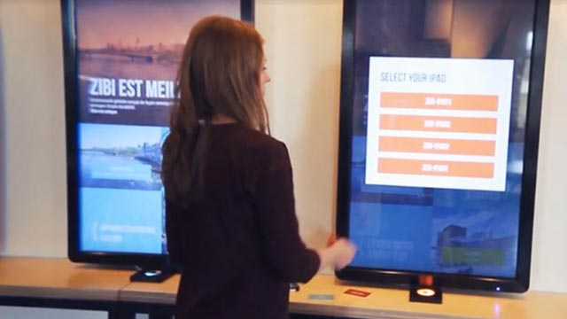 zibi real estate in store touch screens